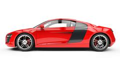 Red Supercar - Side View Stock Illustration