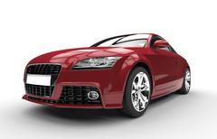 Crimson Red Fast Powerful Car - stock illustration