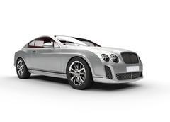 Silver Luxury Car Stock Illustration