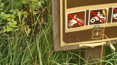 No motorized vehicles us forest service Stock Footage