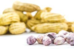 Boiled peanut - stock photo