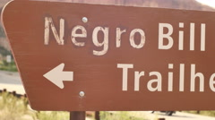 offensive controversial negro bill canyon - stock footage
