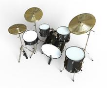 Drums Top View Stock Illustration