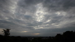 The deep dark clouds in the morning. Stock Footage