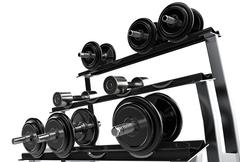 Weights Stand Stock Illustration
