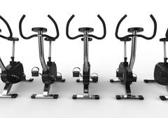Stock Illustration of Stationary Bikes - Front View