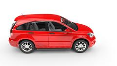 Red SUV - Top Side View - stock illustration