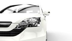 Suv Headlights Shot - stock illustration