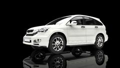 Showroom White - Front View - stock illustration