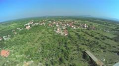 Dalmatian hinterland, aerial shot Stock Footage