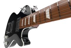 Stock Illustration of Black Guitar Closeup