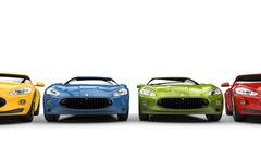 Cool Fast Cars Front Row - stock illustration
