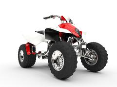 Red Quad - Front View - stock illustration
