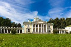 Classic architecture mansion exterior - stock photo
