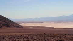 Badlands salt pan in the Death Valley, California, USA Stock Footage