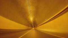 Time lapse of driving in a tunnel - stock footage