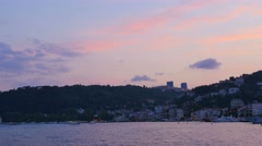 Stock Video Footage of istanbul european side riverfront at the sunset
