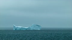Pointy Iceberg Floating in Antarctica - stock footage