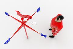3d superhero direction concept - stock illustration
