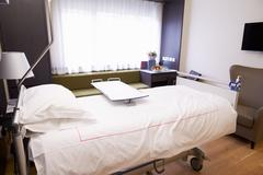 Empty Patient Room In Modern Hospital Stock Photos
