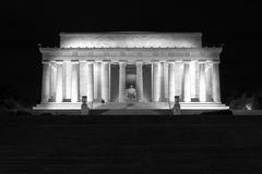 Abraham Lincoln monument in Washington, DC Stock Photos