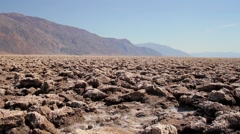 Devil's Golf Course, Death Valley, California, USA Stock Footage