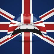 Beauty Lips with United Kingdom Flag Makeup - stock illustration