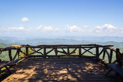 View point at Thong Pha Phum National Park Stock Photos