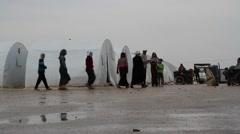 Azaz Border Refugee Camp - stock footage