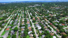 Aerial video of a neighborhood in North Miami Stock Footage