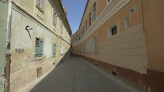 Covered windows on Alecu Russo street, Brasov Stock Footage