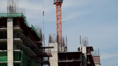 Construction site high-rise buildings Stock Footage