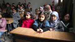 Children Attend Classes in Aleppo, Syria - stock footage