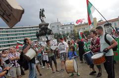 Bulgaria Anti Government Protest - stock photo