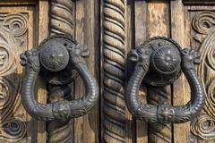 Ornated door hardware Stock Photos