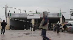 Azaz Border in Syria Stock Footage