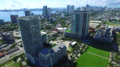 Midtown Miami aerial drone video 3 Stock Footage