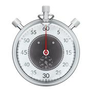 Stopwatch.  front view. Stock Illustration