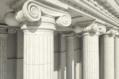 Columns. ionic order. - stock illustration