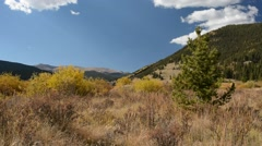 Mountain Landscape in Fall on a Breezy Day - stock footage