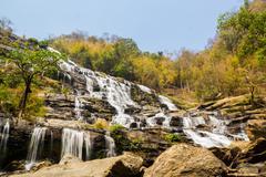 Mae Ya Waterfall, Nam Tok Mae Ya - stock photo