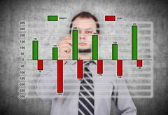 Stock Illustration of profit and cost chart