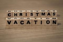 Christmas vacation in wooden cubes Kuvituskuvat