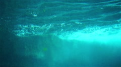 Sea wave through the porthole Stock Footage