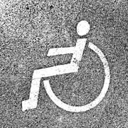 Stock Illustration of Parking places with disabled signs  on asphalt. Vector illustrat