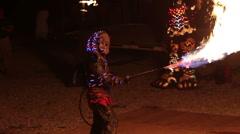 Night Demon Fire - stock footage
