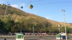 Timelapse view of Vungtau cable car Stock Footage