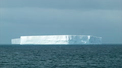 Big Iceberg Blocks Floating in Antarctica Close-up - stock footage