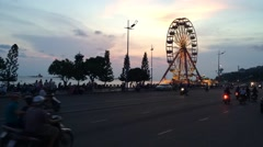Timelapse view of evening Vungtau coast Stock Footage