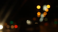 Bokeh Lights (Driving View) driving a car in the night with bokeh lights  9a. - stock footage